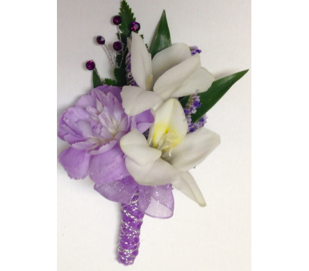 Freesia and Lavender Boutonniere in Wyoming MI, Wyoming Stuyvesant Floral