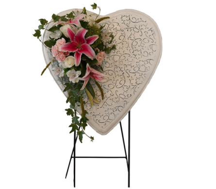Everlasting Heart Easel in Dallas TX, In Bloom Flowers, Gifts and More