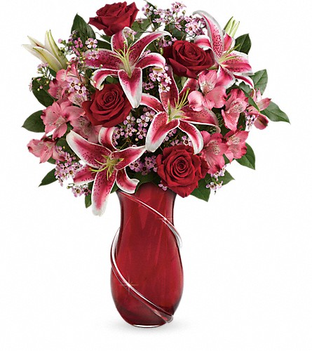 Teleflora's Wrapped With Passion Bouquet in Sand Springs OK, Coble's Flowers