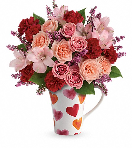 Teleflora's Lovely Hearts Bouquet in Vancouver BC, Davie Flowers