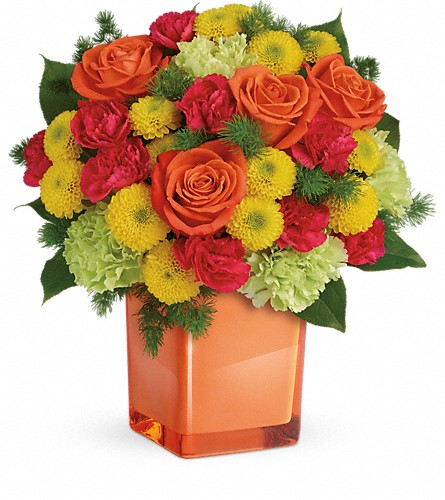 Teleflora's Citrus Smiles Bouquet in Battle Creek MI, Swonk's Flower Shop