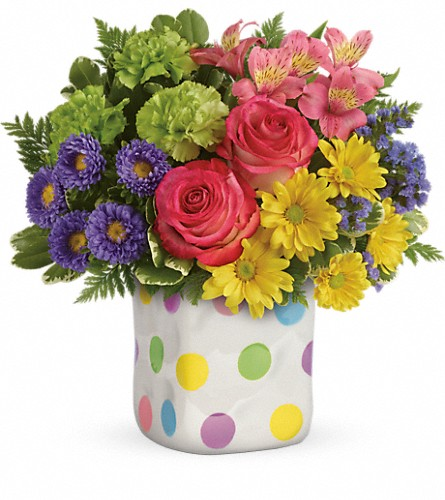 Teleflora's Happy Dots Bouquet in Bartlett IL, Town & Country Gardens