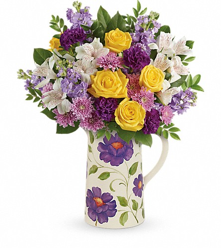 Teleflora's Garden Blossom Bouquet in Muskogee OK, Basket Case Flowers From the Pharm