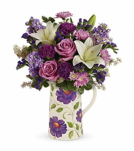 Teleflora's Garden Pitcher Bouquet in Wilmington NC, Tasteful Creations and Floral Events