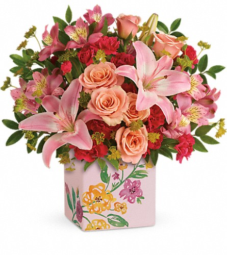 Teleflora's Brushed With Blossoms Bouquet in Garden City NY, Hengstenberg's Florist Inc.