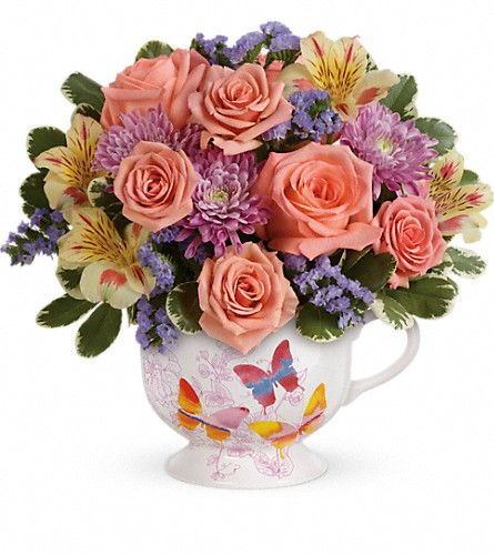 Teleflora's Butterfly Sunrise Bouquet in Edmond OK, Designs By Tammy Your Florist
