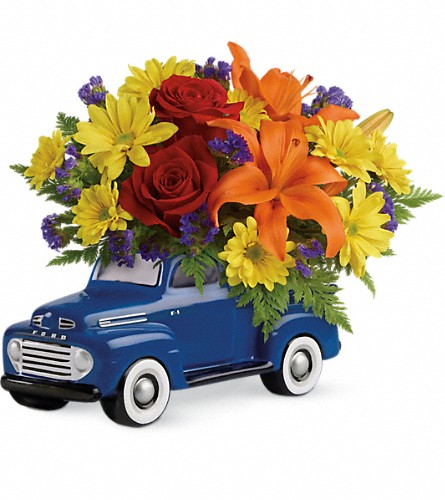 Vintage Ford Pickup Bouquet by Teleflora in Bartlett IL, Town & Country Gardens