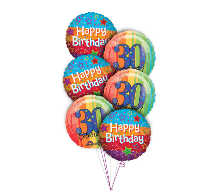 30th Birthday Balloon Bouquet in Princeton, Plainsboro, & Trenton NJ, Monday Morning Flower and Balloon Co.