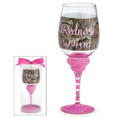 Redneck Diva Wine Glass in Princeton, Plainsboro, & Trenton NJ, Monday Morning Flower and Balloon Co.