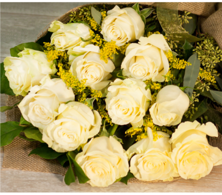 White Rose Bouquet in Merrick NY, Feldis Florists