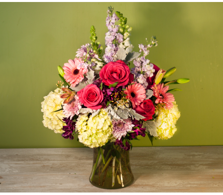 The Brookville Valentine's Vase in Merrick NY, Feldis Florists