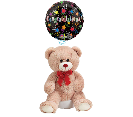 Congrats Balloon and Bear in Princeton, Plainsboro, & Trenton NJ, Monday Morning Flower and Balloon Co.