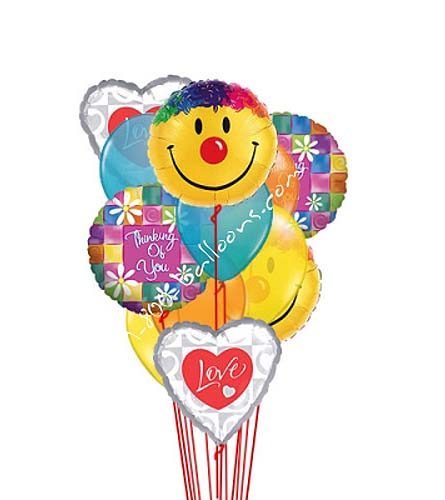 Smiles, Love, Thinking of You Balloons by 1-800-Balloons