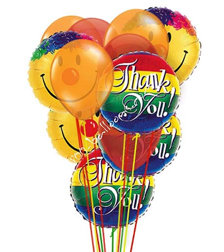 Thank You Smiles Balloons by 1-800-Balloons