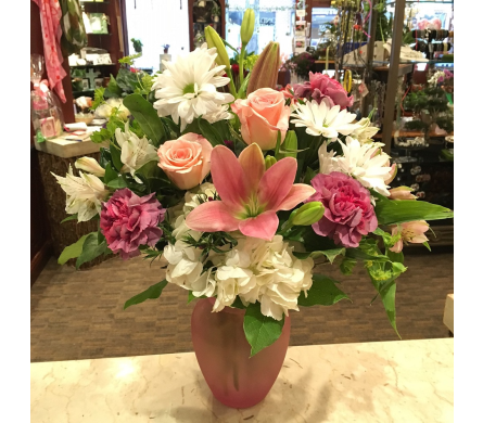 Pretty in Pink in Princeton, Plainsboro, & Trenton NJ, Monday Morning Flower and Balloon Co.