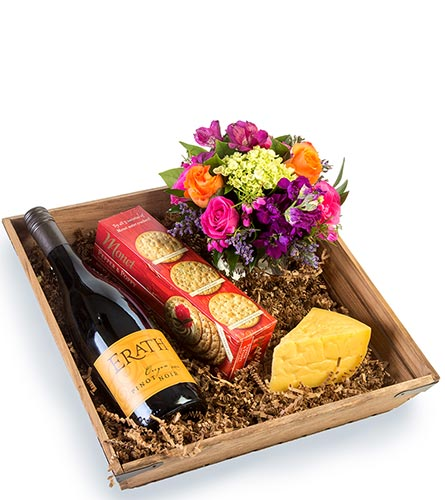 Wine, Cheese & Flowers in Fort Worth TX, TCU Florist