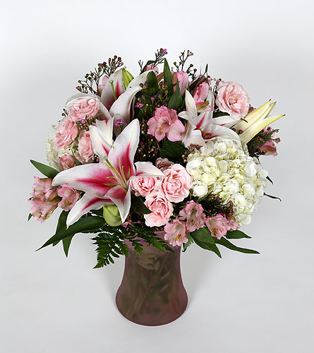 Perfect Pink Vase Arrangement in Southampton PA, Domenic Graziano Flowers