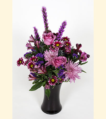 Purple Passion Vase Arrangement in Southampton PA, Domenic Graziano Flowers