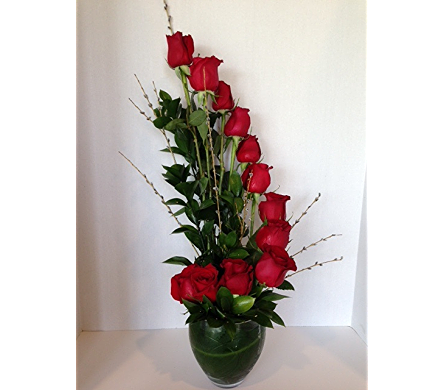 Roses with a Twist in White Lake MI, Flowers of the Lakes, Inc.