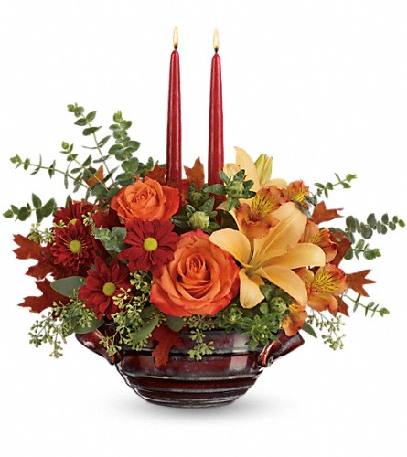 Teleflora's Autumn Gathering Centerpiece in Nashville TN, Joy's Flowers