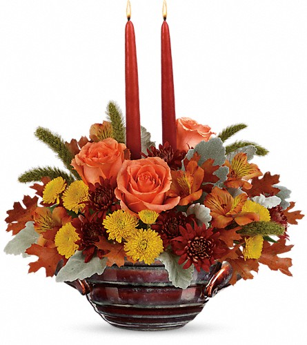 Teleflora's Celebrate Fall Centerpiece in Royersford PA, Three Peas In A Pod Florist