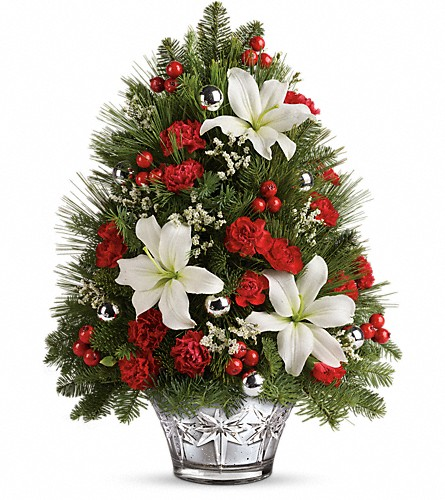 Teleflora's Festive Trimmings Tree in Dawson Creek BC, Enchanted Florist