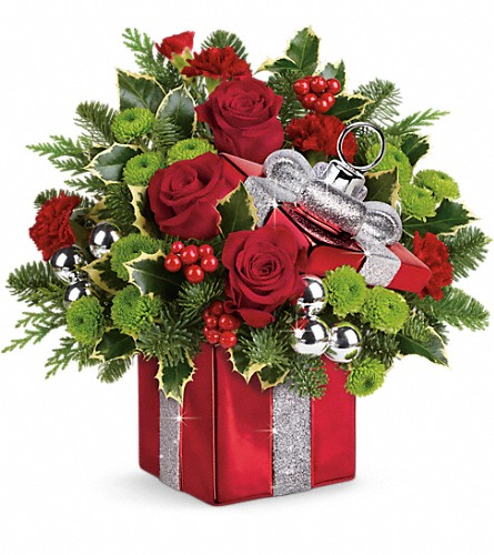 Teleflora's Gift Wrapped Bouquet in Santa Monica CA, Edelweiss Flower Boutique