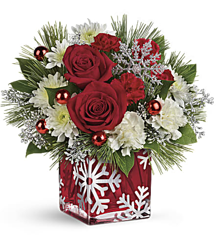 Teleflora's Silver Christmas Bouquet in White Lake MI, Flowers of the Lakes, Inc.