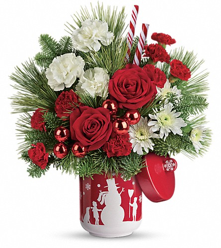 Teleflora's Snow Day Bouquet in White Lake MI, Flowers of the Lakes, Inc.