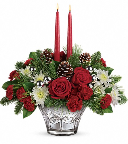 Teleflora's Sparkling Star Centerpiece in White Lake MI, Flowers of the Lakes, Inc.