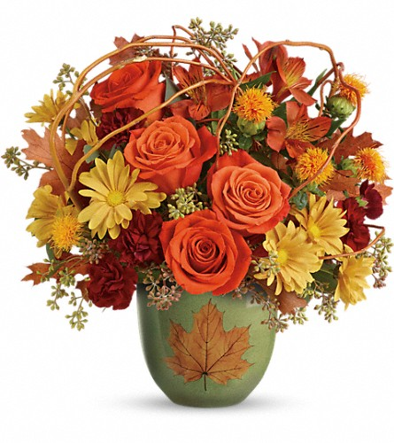 Teleflora's Turning Leaves Bouquet in Sacramento CA, G. Rossi & Co.
