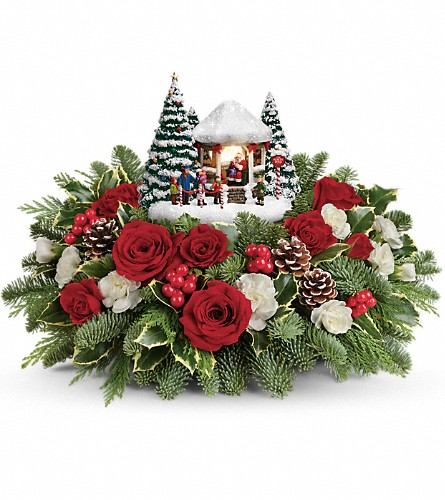 Thomas Kinkade's Jolly Santa Bouquet in Athol MA, Macmannis Florist & Greenhouses