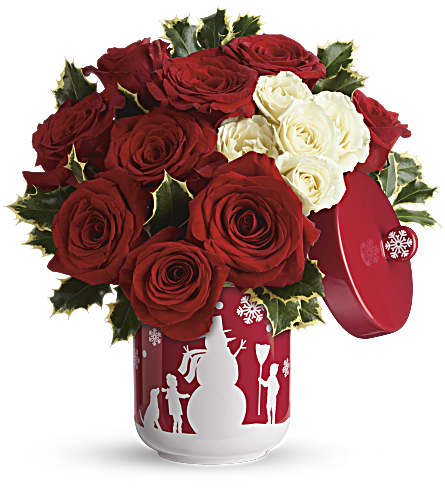 Teleflora's Roses And Holly Bouquet in Walla Walla WA, Holly's Flowers