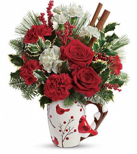 Send a Hug Wings Of  Winter by Teleflora in Walla Walla WA, Holly's Flowers
