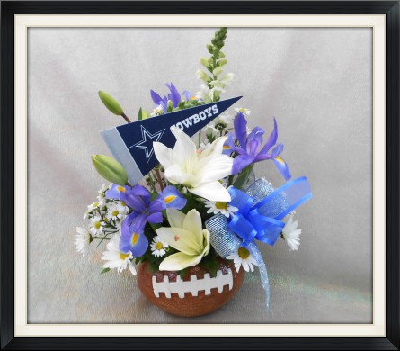 Dallas Cowboys Football Bouquet in Tyler TX, The Flower Box