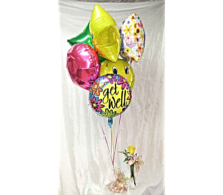 ROSE BUD VASE N'' BALLOONS in Lake Charles LA, A Daisy A Day Flowers & Gifts, Inc.