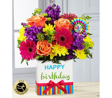 The FTD® Birthday Brights™ Bouquet  in Salisbury MD, Kitty's Flowers