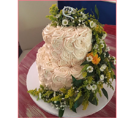 OMG - Our Cake Has Flowers! in Orange Beach AL, Flowers By The Shore