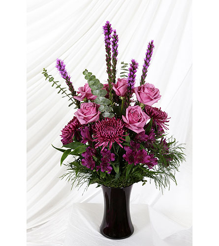 Vase Shades of Purple in Southampton PA, Domenic Graziano Flowers