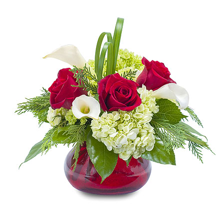 Chic Winter Romance in South Surrey BC, EH Florist Inc