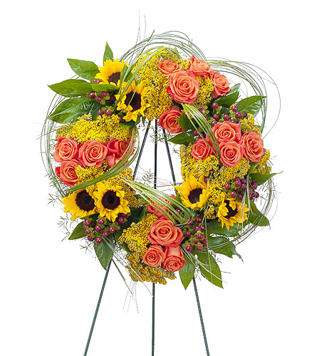 Heaven's Sunset Wreath in Fort Worth TX, TCU Florist