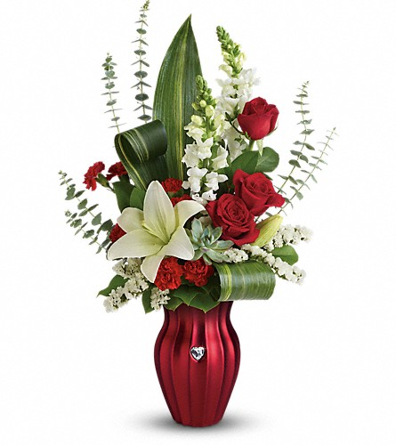 Teleflora's Hearts Aflutter Bouquet in McHenry IL, Locker's Flowers, Greenhouse & Gifts