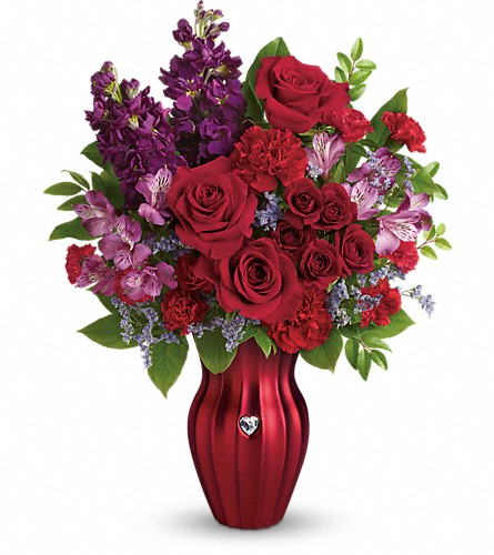 Teleflora's Shining Heart Bouquet in Prattville AL, Prattville Flower Shop