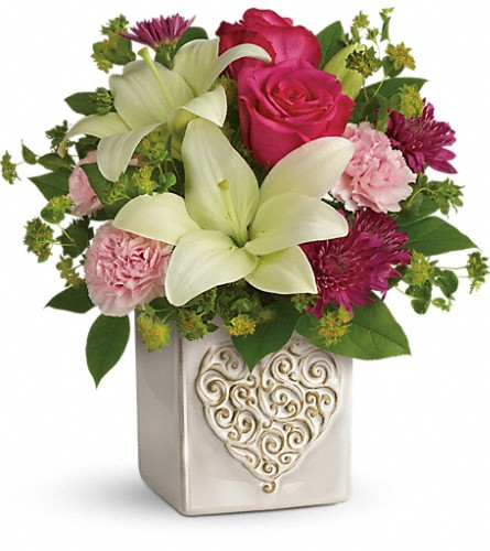Teleflora's Love To Love You Bouquet in Canton NC, Polly's Florist & Gifts