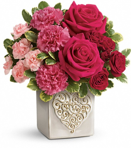 Teleflora's Swirling Heart Bouquet in Canton NC, Polly's Florist & Gifts