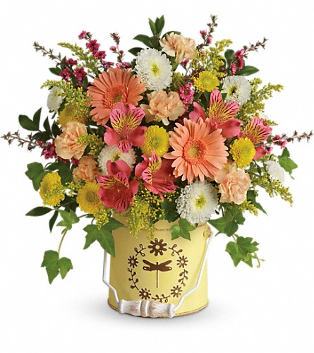 Teleflora's Country Spring Bouquet in Eugene OR, Dandelions Flowers