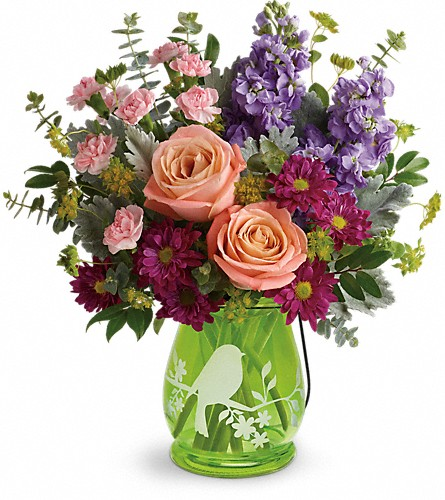Teleflora's Soaring Spring Bouquet in Springfield OH, Netts Floral Company and Greenhouse