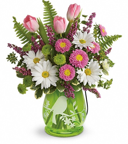 Teleflora's Songs Of Spring Bouquet in Xenia OH, Wicklines Florist