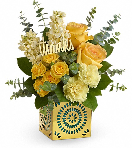 Teleflora's Shimmer Of Thanks Bouquet in Orangeburg SC, Devin's Flowers