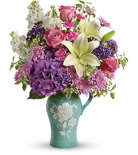 Teleflora's Natural Artistry Bouquet in Lemont IL, Royal Petals